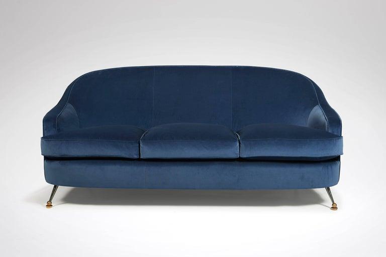 Sofa and pair of armchairs by jules leleu circa 1956 for for Salon leleu