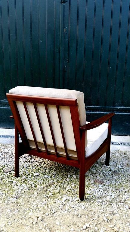 Nice Pair of Scandinavian Teak Armchairs, 1950s-1960s In Good Condition For Sale In L'Escala, ES