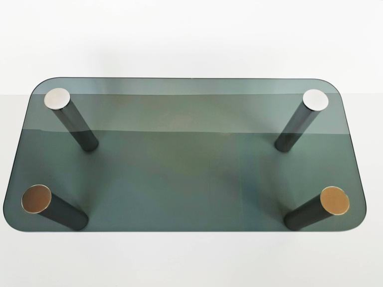 Chrome Coffee Table by Marco Zanuso for Zanotta, 1970s For Sale