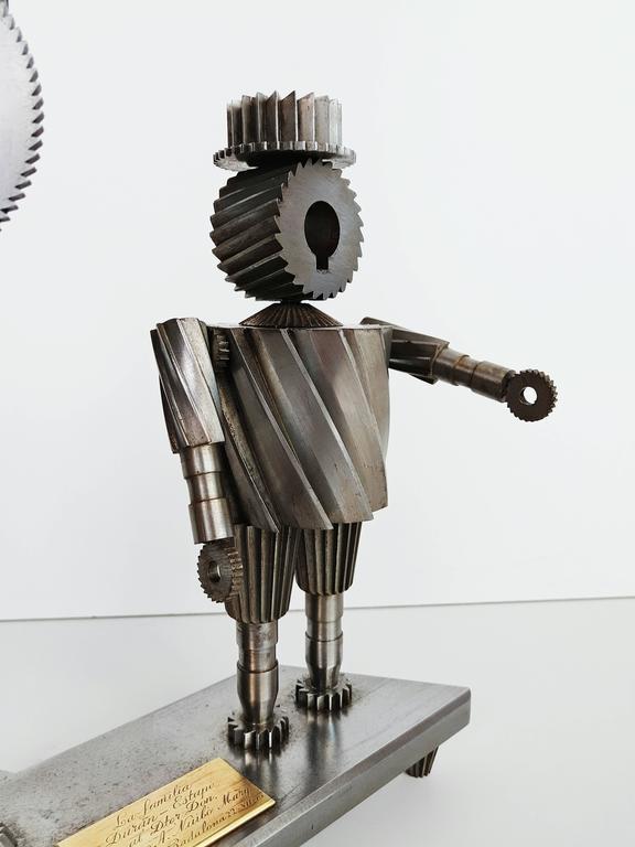 Spanish Don Quixote and Sancho Metal Sculpture Circa 1967  For Sale