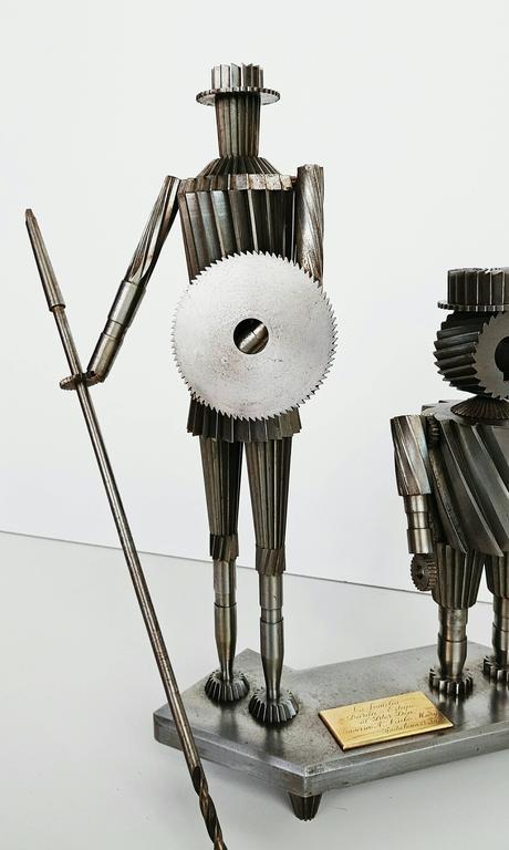 Don Quixote and Sancho Metal Sculpture Circa 1967  In Excellent Condition For Sale In L'Escala, ES