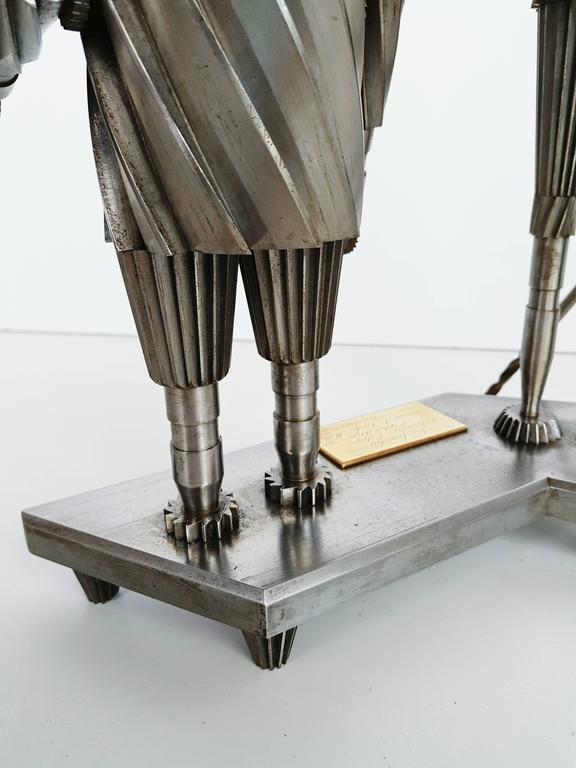 Don Quixote and Sancho Metal Sculpture Circa 1967  For Sale 3