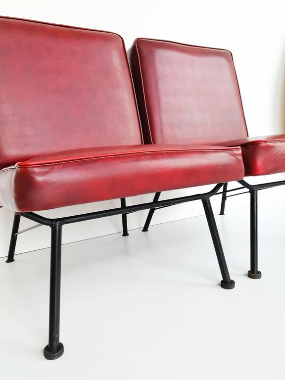 Pair of French Lounge Chairs, 1950s In Good Condition For Sale In L'Escala, ES
