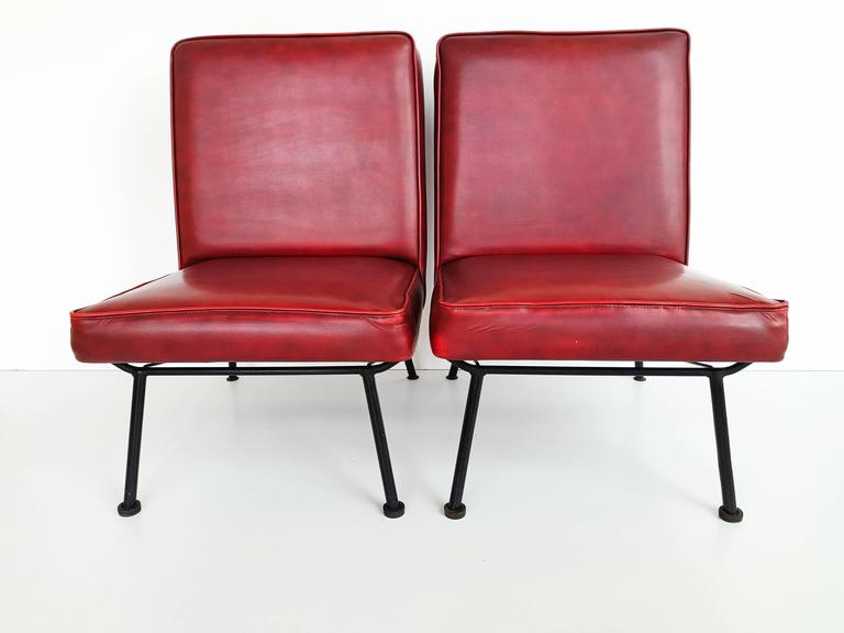 Pair of French Lounge Chairs, 1950s For Sale 1