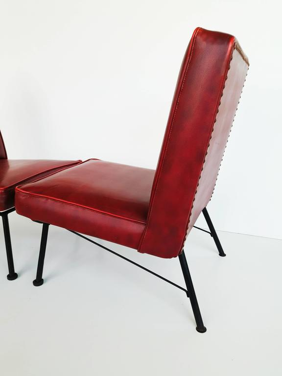 Pair of French Lounge Chairs, 1950s For Sale 2
