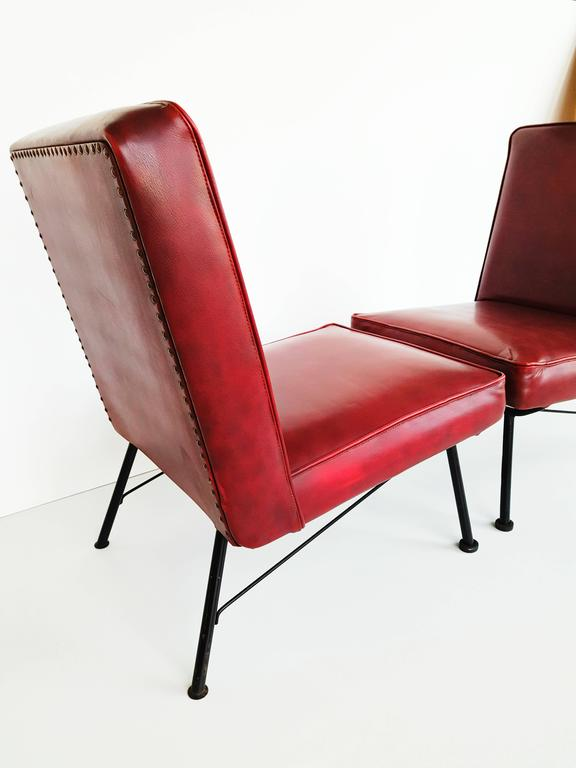 Pair of French Lounge Chairs, 1950s For Sale 3