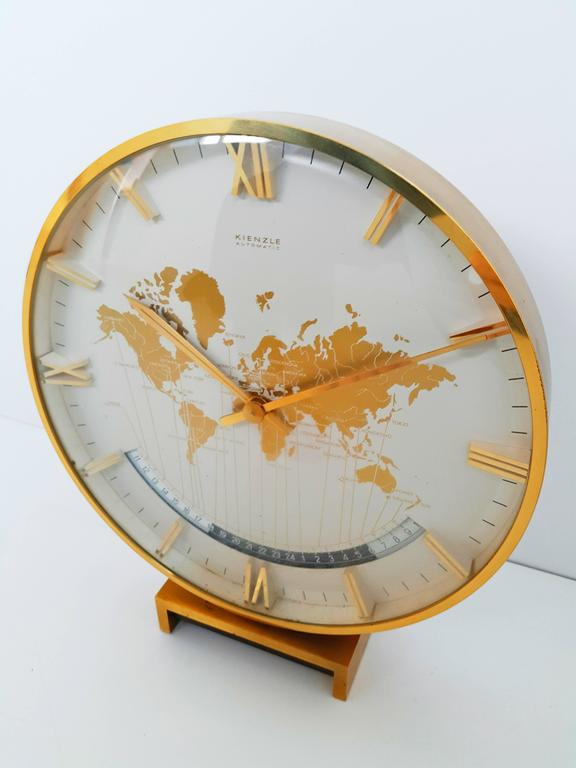 Large kienzle automatic table world timer zone clock 1960s for sale kienzle automatic world timer zone clock an exclusive big table clock from 26cm wonderful gumiabroncs Choice Image