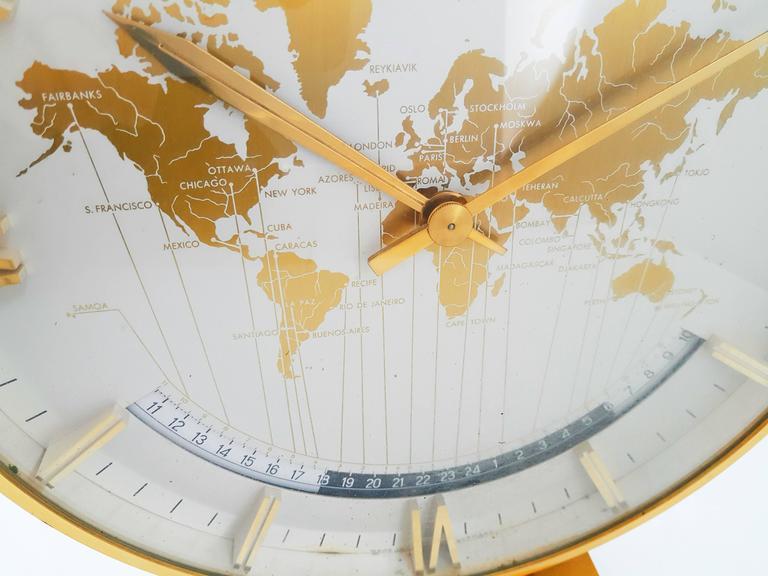 Large Kienzle Automatic Table World Timer Zone Clock, 1960s 3