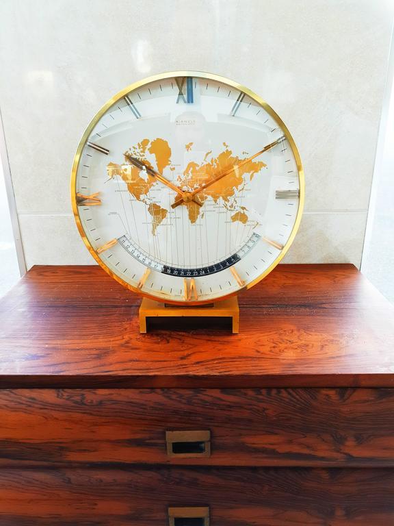 Large Kienzle Automatic Table World Timer Zone Clock, 1960s 5