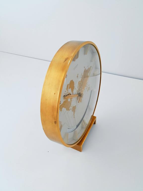 Large Kienzle Automatic Table World Timer Zone Clock, 1960s 6