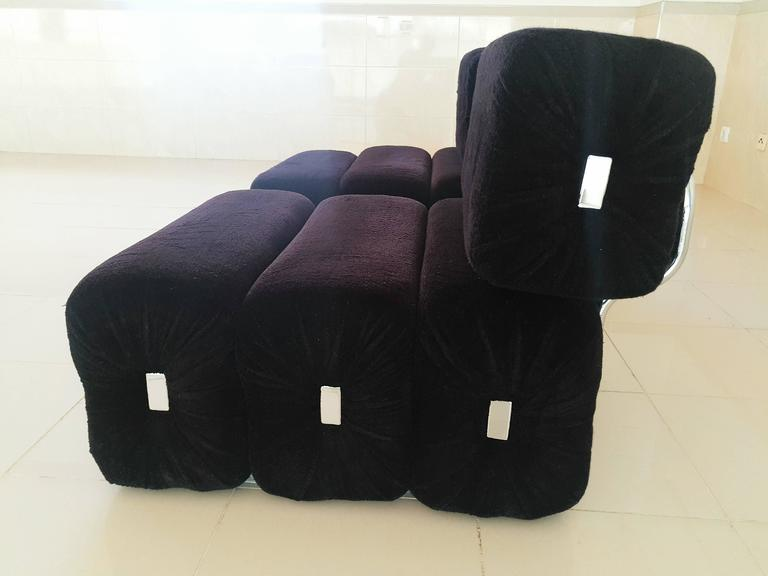 Rare Pair of French Lounge Armchairs, 1970s In Excellent Condition For Sale In L'Escala, ES