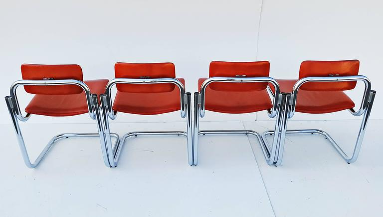 Rare Set of Four Dining Chairs, Italy, 1970s For Sale 2