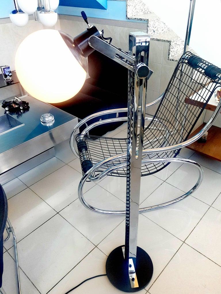Glass Italian Floor Lamp, 1970s For Sale