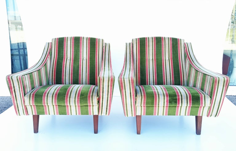 Rare Pair of 1950s, Italian Armchairs in the Style of Gio Ponti 5
