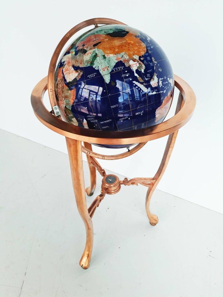 Large Blue Lapis Gemstone Globe 1960s At 1stdibs