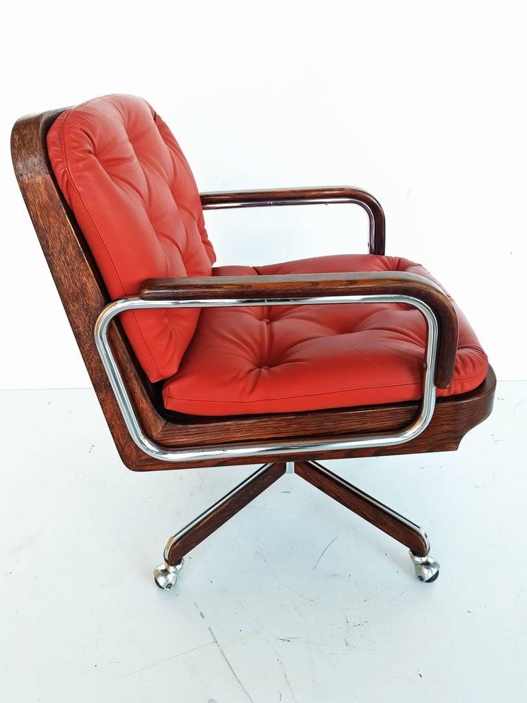 Phenomenal Rare Leather Swivel Armchair By Ag Barcelona Circa 1970 At Creativecarmelina Interior Chair Design Creativecarmelinacom