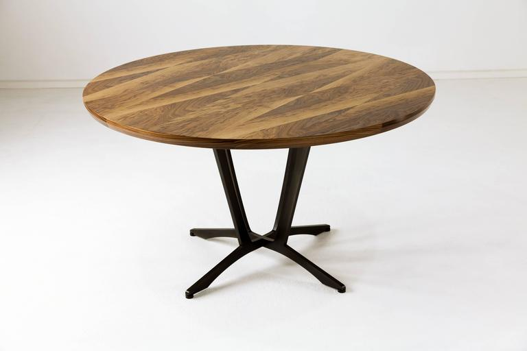 Robson Dining Table, American Hardwood and Steel 2