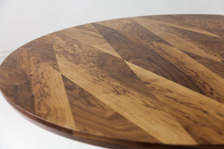 Robson Dining Table, American Hardwood and Steel 3