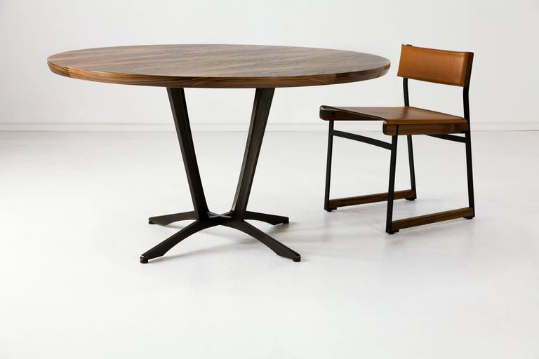 Robson Dining Table, American Hardwood and Steel 7