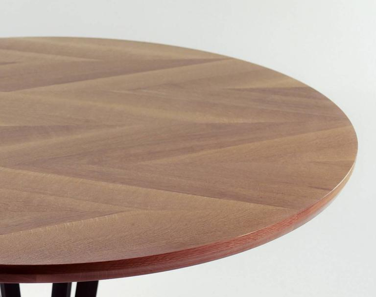 Robson Dining Table, American Hardwood and Steel 5