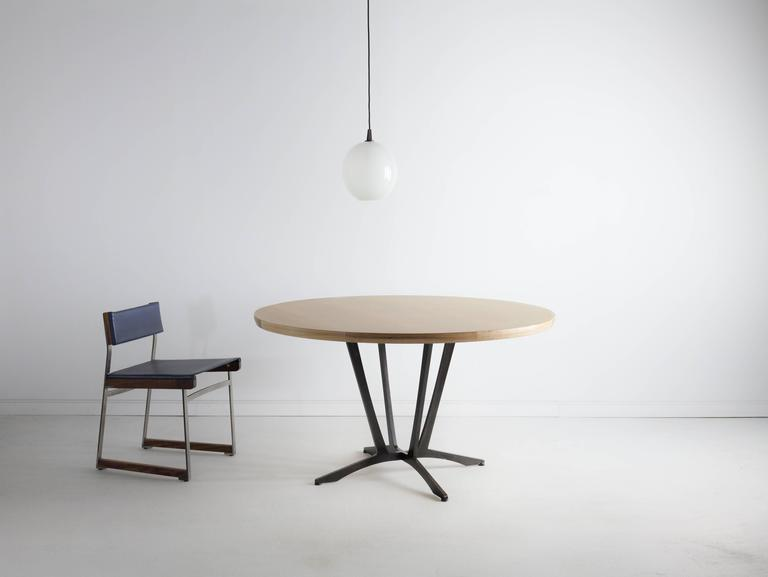 Robson Dining Table, American Hardwood and Steel 4