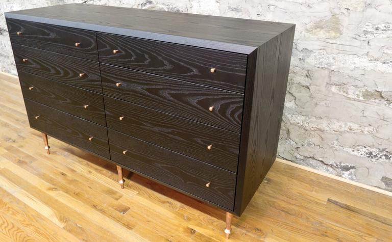 Turned Wide Pacific Dresser by Volk For Sale