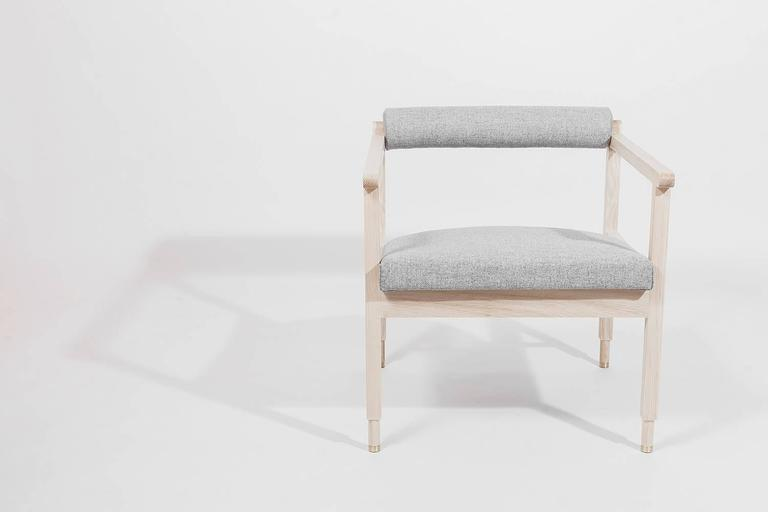 Bleached Saint Charles Armchair by Volk For Sale