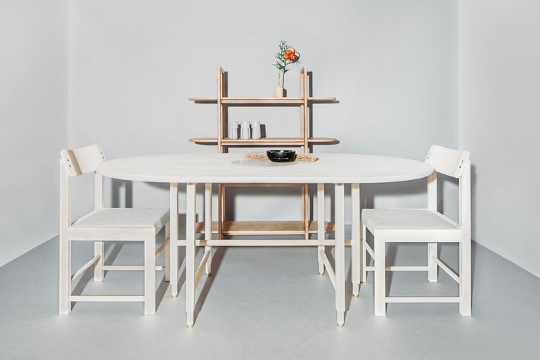 Bleached St. Charles Dining Table by VOLK For Sale