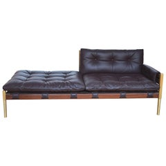 Brazilian Mid-Century Modern Inspired Campanha Chaise Lounge in Leather