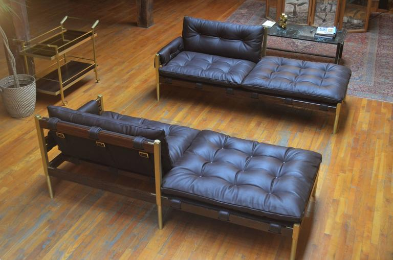 Brazilian mid century modern inspired campanha chaise lounge in leather for sale at 1stdibs - Brazilian mid century modern furniture ...