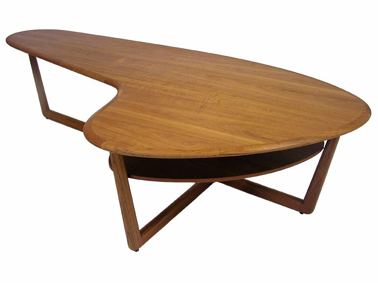 An Amazing Kidney Shaped Teak Coffee Table From The 1960s Mid Century Modern Era By