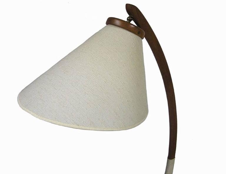 1960s Danish Modern Teak Tripod Leg Floor Lamp At 1stdibs