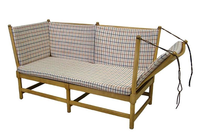 1960s Borge Mogensen Beech Spoke Back Daybed Sofa Denmark