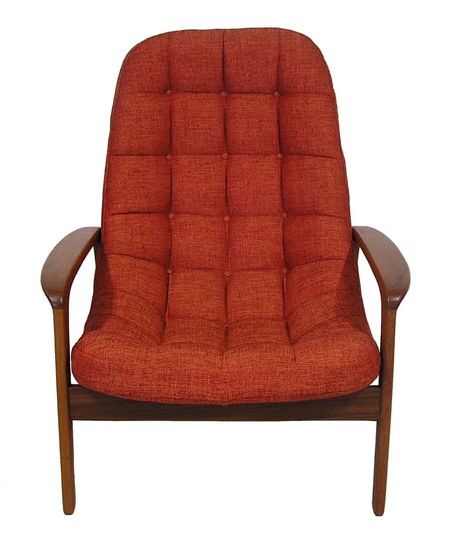 1960s Danish Modern Era Teak Lounge Chairs By R Huber For
