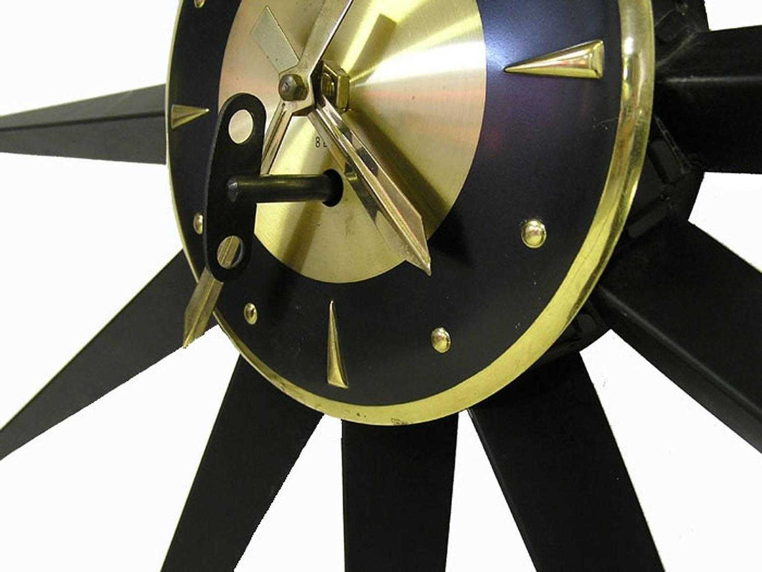 1950s Quot Welby Quot Starburst Wind Up Metal Wall Clock Germany