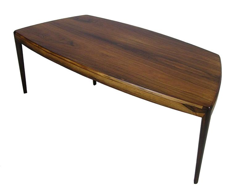 A Gorgeous Brazilian Rosewood Coffee Table From The 1960s Danish Modern Era Designed By Kai
