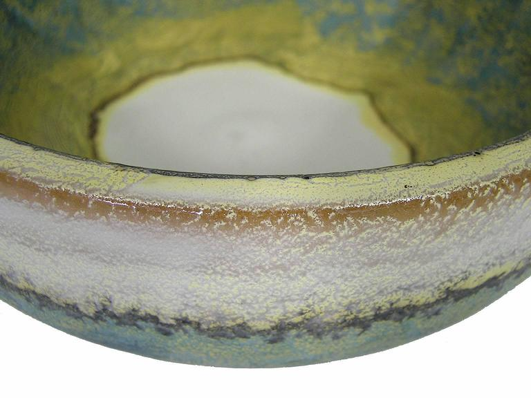 1970s Glazed Ceramic Bowl by Marcello Fantoni, Italy For Sale 1