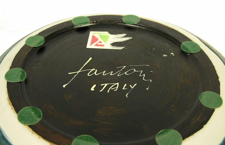 1970s Glazed Ceramic Bowl by Marcello Fantoni, Italy For Sale 3