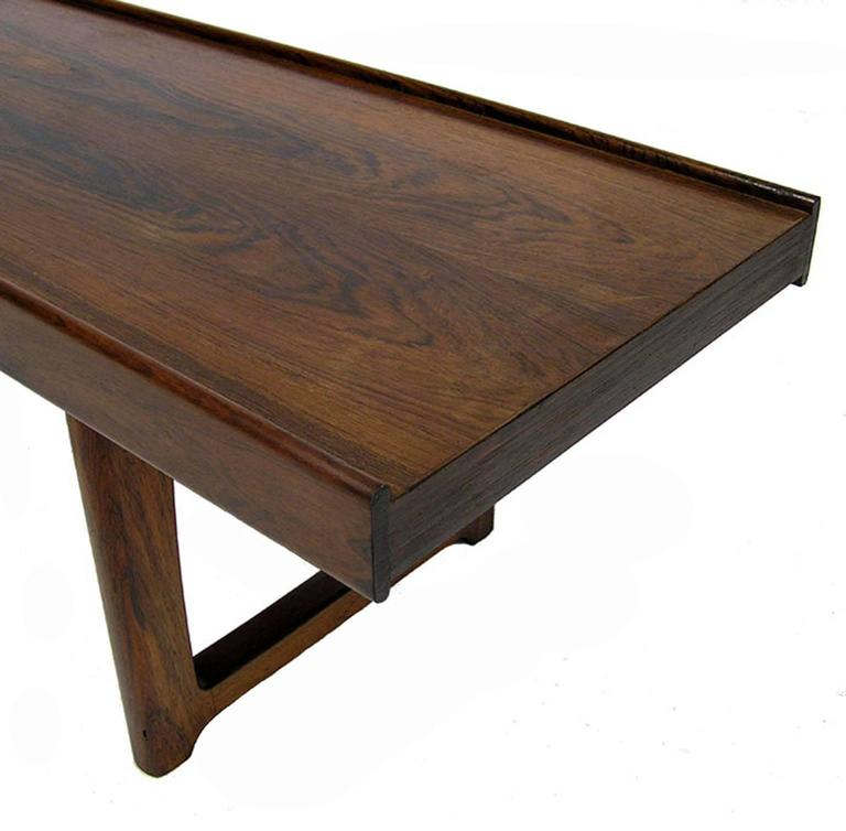 "Norwegian 1960s Torbjorn Afdal Rosewood ""Krobo"" Bench, Norway For Sale"