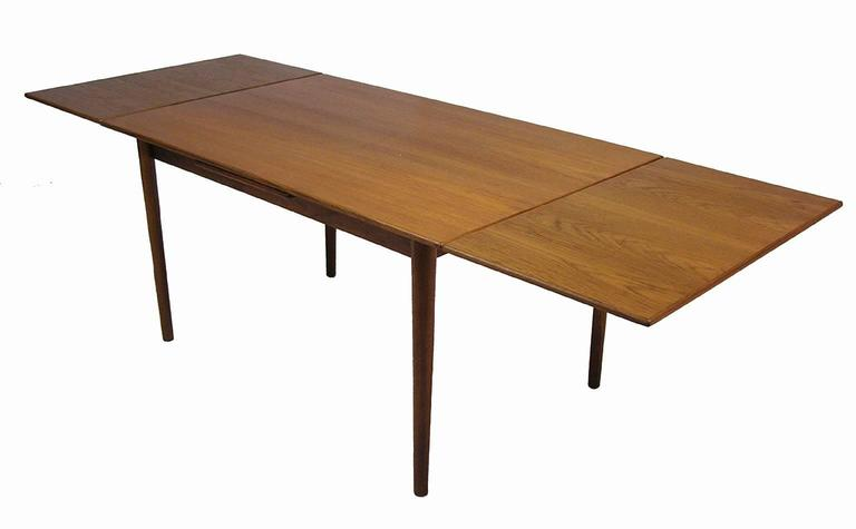A Gorgeous Teak Draw Leaf Dining Table From The 1960s By Borge Mogensen For Sorborg