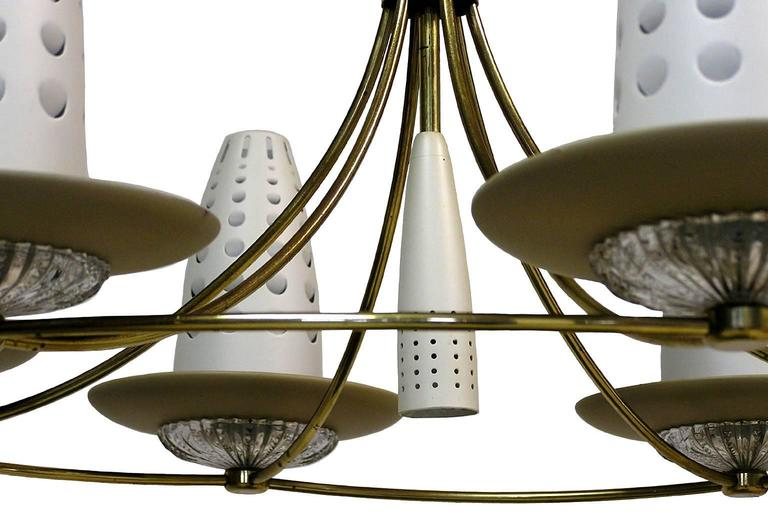 1950s Lightolier Chandelier by Gerald Thurston 3