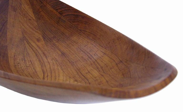 Mid-20th Century 1950s Teak Dansk Canoe Bowl by Jens Quistgaard, Denmark For Sale