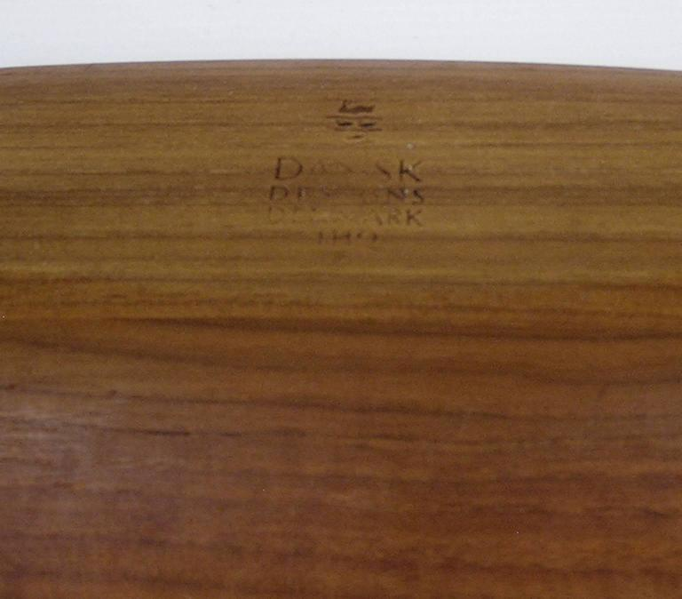 1950s Dansk Teak Gondola Bowl by Jens Quistgaard, Denmark In Excellent Condition For Sale In Winnipeg, Manitoba