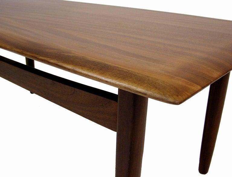 1960s Solid Teak Mid Century Modern Coffee Table By Jan