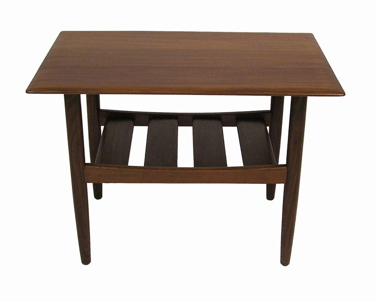 1960s Solid Teak Mid Century Modern Side Tables By Jan