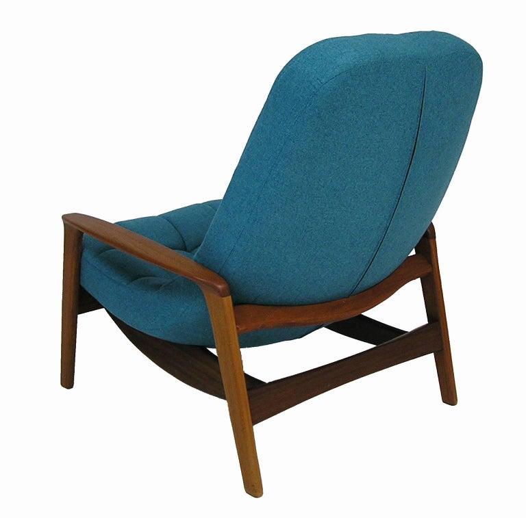 1960s Danish Modern Era Teak Lounge Chair And Ottoman By R