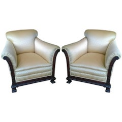 Pair of Late 19th Century Mahogany Armchairs