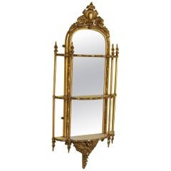 Victorian Gilt Gesso Mirrored Shelves