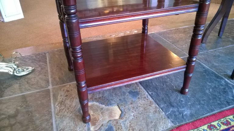 Aesthetic Movement Victorian Aestetic Period Mahogany Canterbury For Sale