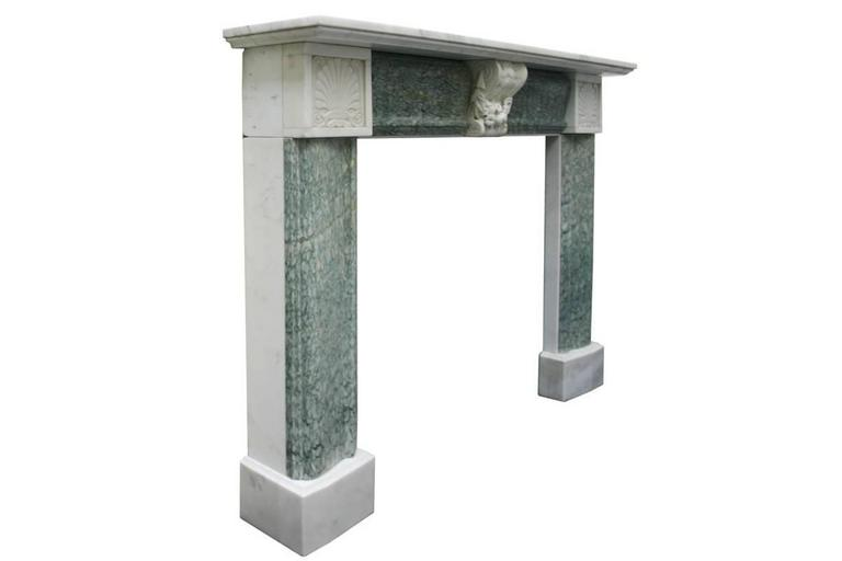 English Antique 19th Century Regency Marble Fire Surround For Sale